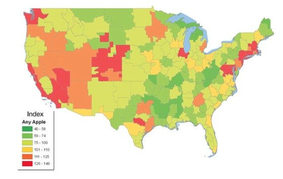 Misguided Maps Your Guide To Poor Quality Cartography - Us media market map