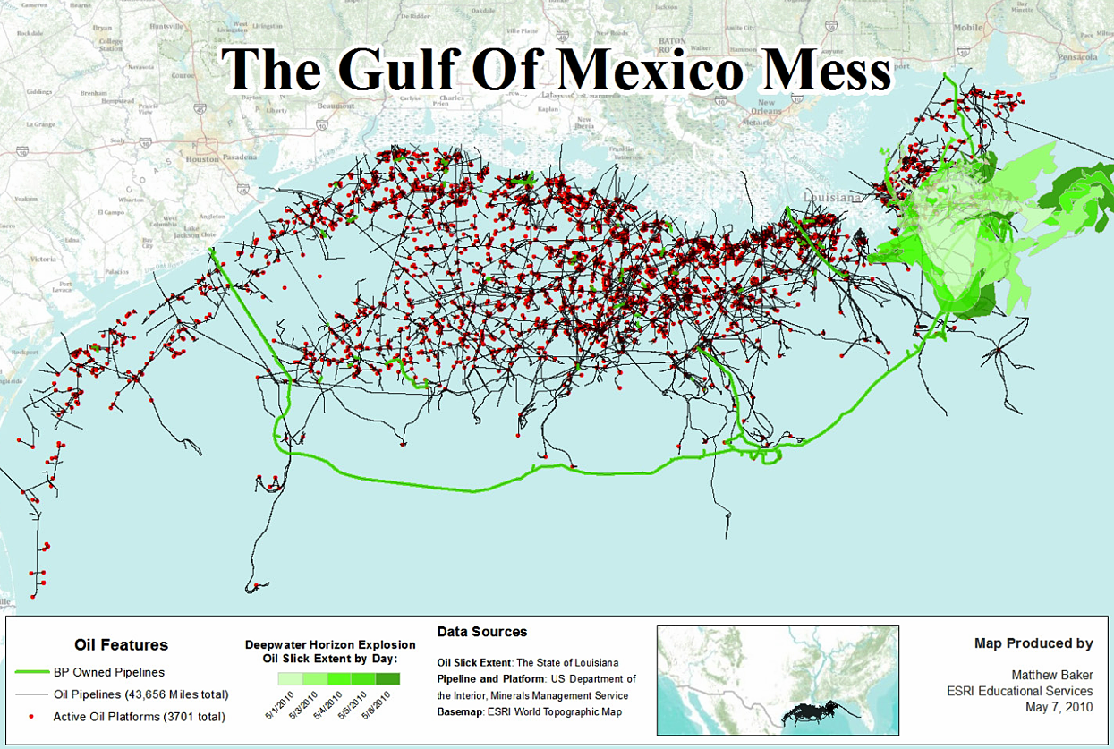 The Oil Spill In Maps Best And Worst Misguided Maps - Map of us oil pipelines